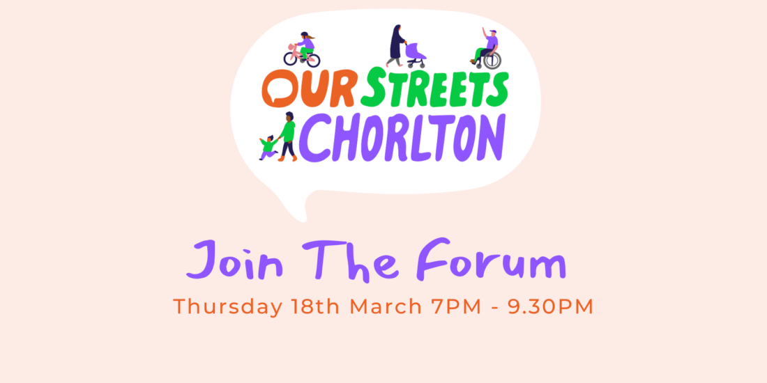 Chorlton Climate Action Community Forum Banner